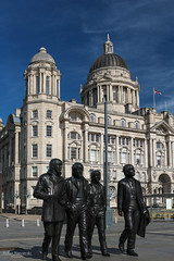 The Fab Four (Zaphod Beeblebrox 1970) Tags: uk england monument liverpool waterfront statues beatles pierhead thebeatles fabfour