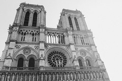 Notre Dame B&W - Paris, France (The Web Ninja) Tags: travel bw white black paris france travelling architecture canon photography photo europe exploring eu explore traveling notre dame travelphotography 70d explored canon70d