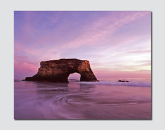 Simply, Natural Bridges (RZ68) Tags: california park bridge sunset seascape film water clouds mediumformat natural state bridges cruz sant naturalbridges rz68