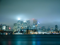 Foggy Toronto (Christopher Liando) Tags: street toronto ontario canada docks 35mm cherry harbor nikon fuji bokeh harbour 14 front full frame fujifilm bower x10 samyang rokinon d700
