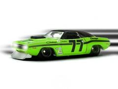 HotWheels - Sam Posey's '70 Dodge Challenger (Leap Kye) Tags: green car race america vintage toy am model ray sam union champion racing hotwheels 164 dodge 1970 lime trans 77 transam caldwell usac posey uasc autodynamics armedclown309