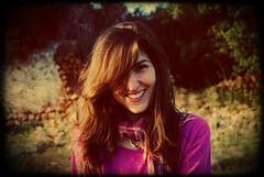 Brown Girl (Lucia Cortés Tarragó) Tags: pink portrait brown girl smile hair nikon shine little