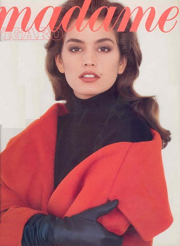 Cindy Crawford -1987 - Madame Figaro cover