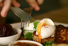 Perfect (Alice Montague) Tags: food fruit breakfast cafe melbourne yolk muesli poachedegg queensparade mixedbusiness