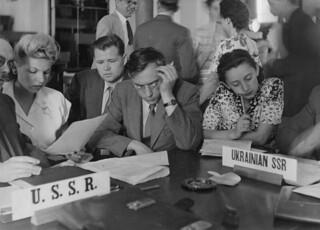 Translating at a postwar U.N. conference