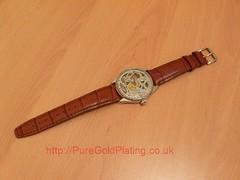 IWC Watch in Platinum Plate (PureGoldPlating) Tags: iwc iwcwatch platinumplated electroplatedwatch platingumplated