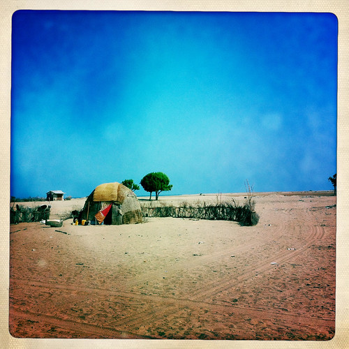 Refugee camp in Lughaye thru Iphone Hipstamatic - Somaliland