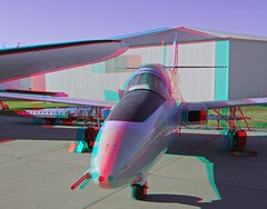 Fargo Air Museum (Anaglyph 3D) (patrick.swinnea) Tags: airplane stereoscopic stereophoto 3d airplanes anaglyph fargo airmuseum