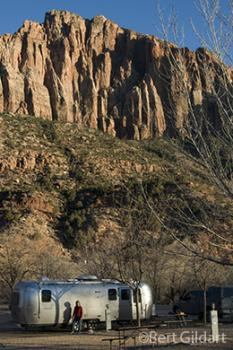 Zion NP six hours later Watchman Campground