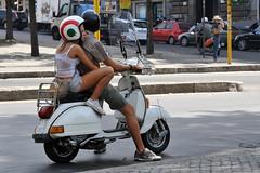Scooter Girl Rome (FaceMePLS) Tags: italy rome roma italia vespa streetphotography sneakers shorts windshield meisje helm hotlegs italië benen jongen crashhelmet tweewieler sportschoenen straatfotografie windscherm facemepls vlaggestandaard nikond300 kortebroek bagagerek kentekenvt54807