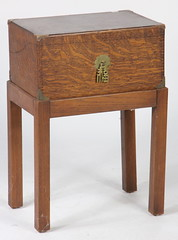 75. Chinese Oak Document Box