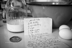 Traditions ... (Rob Overcash Photography) Tags: blackandwhite bw stilllife vintage recipe baking antique inmemoryof robotography robovercashphotography fujix100 overcashdairy