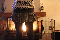 it's beginning to look a lot like christmas. (Charlotte Judge) Tags: christmas camera winter light girl canon vintage out jack fire log warm pattern legs body tights skirt clash jumper straight wills 600d