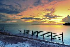 #850C7700- Burning Sky and Milky Sea (Zoemies...) Tags: sea sky beach clouds burning milky slowshutterspeed balikpapan melawai zoemies