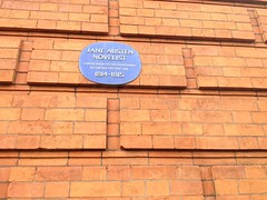 Photo of Henry Austen and Jane Austen blue plaque