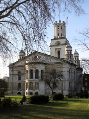 Hawksmoor's St. George's In The East: Shadwell (Curry15) Tags: london bench explore e1 shadwell nicholashawksmoor stgeorgespark eastfront 1729 lanterntower gradeilisted pepperpotturrets churchofstgeorgesintheeast canonstreetroad