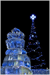 Merry Christmas...on the rocks! (M Luca) Tags: christmas cold ice statue canon russia powershot sculture merry natale freddo ghiaccio g12