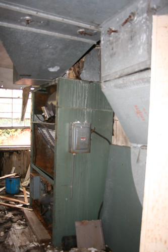 Mechanical room in the staff house