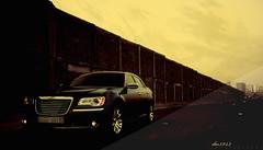 DESING.300C - FRONT (DM8943) Tags: new morning blue bw orange brown black macro cars lamp car yellow wow dark gold grey benz weird amazing day power good feel feeling chrysler headlamp 300 300c darkred wooow woow 2011 dm8943