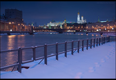 Moscow. The view from the bridge pier Ust'insky the Kremlin. (Yuri Degtyarev) Tags: from bridge schnee winter snow 120 night photography pier photo big view sam moscow sony tripod great yuri 100 alpha moskau sal dt kremlin a100 slik  cokin 5018 p120     nd8 pseries degtyarev   dslra100 alpha100 121s gnd8 p121s  moskvoretsky sal50f18 psystem vf49ndam ustinsky gnd33 vfndam