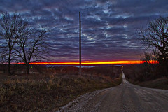 Car Lights (Kansas Poetry (Patrick)) Tags: sunset night lawrencekansas clintonlake approachingcar patrickemerson patrickandnancywatchfindingnemo