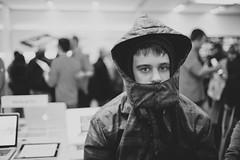 .360 (Jason Curescu) Tags: old boy people man apple hat 35mm canon store mac ipod mark 14 orchard busy jacket ii 5d iphone ipad 5dmk2