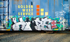 Hope4 (TheHarshTruthOfTheCameraEye) Tags: california west train hope graffiti golden 4 service hm northern freight goldenwestservice benching hope4