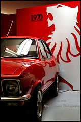 When the Lion Roared (Mark-Cooper-Photography) Tags: red car museum canon vintage eos 50mm general f14 lj sigma australia victoria historic motors national vic rare 1973 holden torana gtr echuca xu1 550d t2i eos550d markcooperphotography