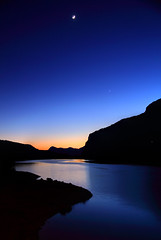 lago di molveno (alessandro isnenghi) Tags: sunset moon lake mountains alps lago niceshot luna hills di della alto alpi montagna trentino dolomites dolomiti fai alessandro adige andalo molveno paganella photomatix pradel bestcapturesaoi isnenghi elitegalleryaoi