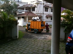 Garbage collectors and Garbage Truck in India (Jennifer Kumar) Tags: india kerala wastemanagement 2011 garbagecollection