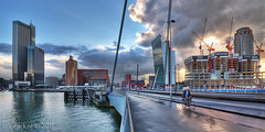 The search for magic realism / Erasmusbrug / Rotterdam (zzapback) Tags: city bridge urban holland robert netherlands dutch clouds river de rotterdam nikon europa europe fotografie angle erasmus neworleans wide nederland wolken sigma van kpn maas 1020mm kopvanzuid ultra hdr stad kop architectuur erasmusbrug zuid rivier voogd rotjeknor vormgeving d90 belastingdienst photomatix derotterdam groothoek grafische nieuweluxor bergselaan liskwartier maastoren zzapback zzapbacknl robdevoogd stayawakeenjoyyourday