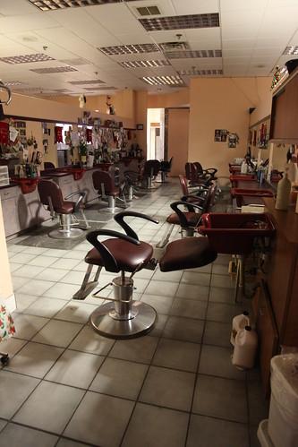 Exit through the hair shop