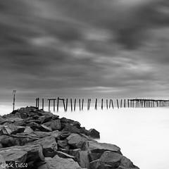 59th Street Pier II (Jack Fusco) Tags: longexposure blackandwhite bw pier newjersey jetty fineart nj le oceancity 59thstreetpier canon7d jackfusco wwwjackfuscocom