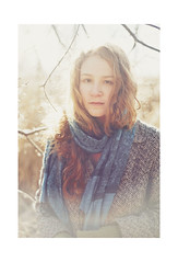 let the sunshine in (schaharazad) Tags: sunshine scarf hair outdoors allie coat january redhead curly