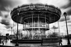 The Carousel (Geoffrey Gilson) Tags: white motion black blur france canon eos long exposure carousel 7d normandie honfleur geoffrey gilson nd400 nd500