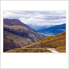 Mountain drive to Queenstown New Zealand (Perfectoarts) Tags: queenstown snowcappedmountains valleyviews ingriddouglasphotography newzealandtravels steepmountaindrives