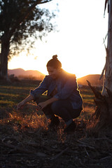 nanci (michelleciao) Tags: sunset portrait people sun mountains grass fashion canon hair rebel 50mm high jean boots jacket teenager jeffrey campbell bun lita demin lookbook smle ti1