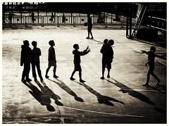 Catch (Feldore) Tags: china playing game silhouette basketball ball children shadows play hong kong catching catch mchugh throw throwing feldore