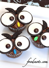 Owl Cupcakes (Recipe Snob) Tags: from cake by recipe death cupcakes mix mms chocolate cupcake owl recipes mm oreo the