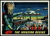 "Mars Attacks #1 ""The Invasion Begins"" (cigcardpix) Tags: mars vintage advertising comic graphic ephemera fantasy horror sciencefiction attacks reprint tradecards gumcards"