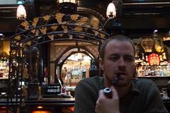 Caf en Seine Clients (JF Sebastian) Tags: portrait dublin caf bar pub friend pipe modernism smoking smoker pipesmoker cafenseine nikond70s1770 morethan100visits morethan250visits morethan500visits morethan1000visits