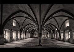 Dormitory (Blitzknips) Tags: germany deutschland blackwhite sw kloster eberbach mygearandme mygearandmepremium mygearandmebronze mygearandmesilver monasttery