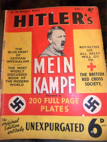 From flickr.com: Mein Kampf, by Hitler.  Apparently one of the few books that Trump has actually read, at least according to Ivana. (3t) {MID-221937}