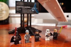 Darth Vader, Luke Skywalker, and Crew (FinnLarge) Tags: arizona phoenix starwars lego hobby darthvader lukeskywalker imperialshuttle canoneos7d lambdaclasst4ashuttle canon24mmf14iil