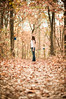 Patience Path (Proleshi) Tags: november autumn portrait woman brown fall nature girl beauty leaves standing 50mm model pretty path fallcolors rustic naturallight jeans trail bluejeans pathway josephs patience jamal seaofleaves d300s 50mm14afs frankaclark proleshi crazysubjectdistance