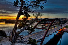 Sunrise at the Pennybacker Bridge in Austin Texas (jeffwspencer.com) Tags: bridge austin loop 360 pennybacker nikond7000hdr