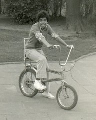Tony on a Chopper bike, 1976 (Paul-M-Wright) Tags: black london classic fashion bike bicycle kids youth vintage chopper culture smith raleigh icon tony teenager 70s 1970s seventies 1976 paulwright raleighchopper