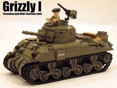 "Canadian Grizzly I cruiser (""Rumrunner"") Tags: world 2 war tank lego wwii canadian 2nd ii ww2 grizzly ww sherman worldwar2 brigade armoured m4a1 brickarms"