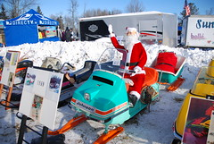 1969 Johnson Skee Horse and matching sled -- Vintage Snowmobiles at Tip-Up Town, Houghton Lake, MI 1-21-2012 (Corvair Owner) Tags: carnival winter horse lake snow 1969 up mobile mi vin