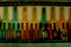 Coloured Display of Guiness Bottles (Explored) (Ladybird Photography) Tags: autumn ireland dublin orange green st arthur gate colours bottles irland eire brewery years shan guiness storehouse jamess stout 9000 lease 1759 gheata pregamewinner dublin2011 grdlann samuis